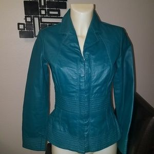 Shape fx fitted leather jacket size 4